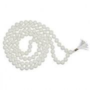 White Agate Mala Natural & Original gemstone beads hakik mala by Jaipur Gemstone