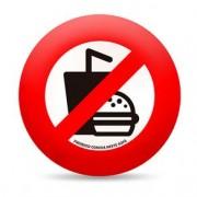 Almofada Proibido Comida Neste Sofa Redonda
