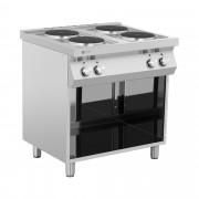 Elektrische kookplaat - 10.400 W - 4 branders - onderkast