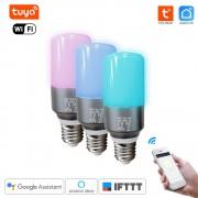 Inteligentná WiFi RGB Žiarovka Tuya Smart Life E27 Sviečka