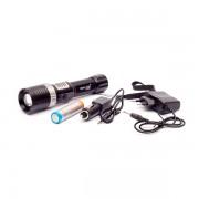 Lanterna LED 3W Zoom cu Acumulator si Alarma ZYR851