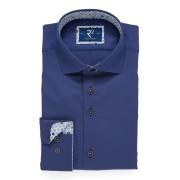 【64%OFF】別布切替 ホリゾンタルカラー 長袖シャツ ネイビー 42 ファッション > メンズウエア~~その他トップス