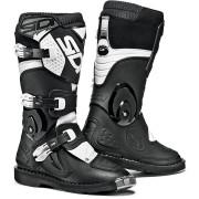 Sidi Flame Niños botas de Motocross Negro Blanco 33