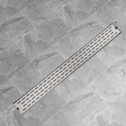 vidaXL Rovný sprchový odtok s čiarami, 1030x140 mm, nerezová oceľ