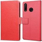 Huawei P30 Lite hoesje - Book Wallet Case - rood