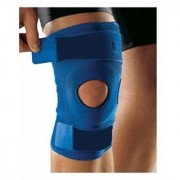 Kudize Functional Knee Support Compression muscle Joint Protection Gym Wrap Open Patella Hinge Brace Support Blue- (M)