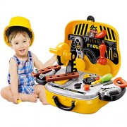 Grab OffersPerfect 31 Pcs Mechanic Tool Pretend Play Set With Carry Car Case Toy For Kids.(Yellow)