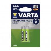Varta 56733 - 2 buc Baterii reîncărcabile SOLAR ACCU AAA NiMH/550mAh/1,2V