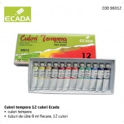 Culori tempera 12 culori Ecada