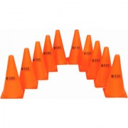 SAS Field Marker Cones for Match Practice Training Set of 10 Durable and Water proof - 9 Inch Marker Cones