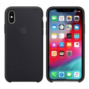 Apple cover iPhone Xs silicone zwart