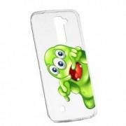 Husa Silicon Transparent Slim Green Monster LG G7 ThinQ