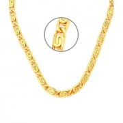New Fancy Fisher Design HONEY SINGH Gold Plated Chain With 6 Months Re-plating Warranty For Dashing Men's 22Inches 14gm