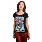 tricou stil gotic și punk femei - Skull Tarot - TOO FAST - Skull Tarot
