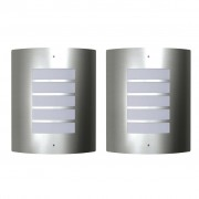 vidaXL 2 Rozsdamentes Acél Vízálló Fali Lámpatestek 60W