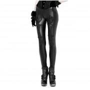 Pantalon (Leggings) pour femme PUNK RAVE - Black Soiree Gothic - WK-328 BK