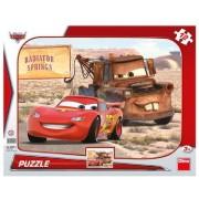 Puzzle Peripetii cu Lightning McQueen, 12 piese, 3 ani+