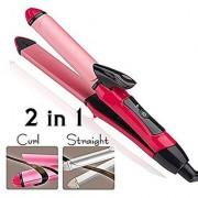 2 In 1 Hair Beauty Set Curler Straightener Nhc-2009