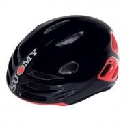 SUOMY Casco Bicicletta Sfera Lucido Nero-Rosso M