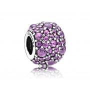 Pandora bedel zilver Zirconiabol 'Glinsterende Paarse Druppels' 791755CFP