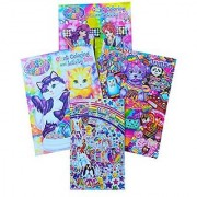 Lisa Frank Coloring and Activity Book Set (3 Books) and Lisa Frank Sticker Collection (Over 350 Stickers)