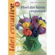 Flori din hartie creponata. Idei creative 65
