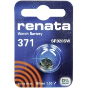 Baterie buton oxid de argint 371, 1,55 V, 40 mAh, Renata