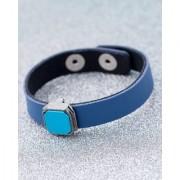 Dare by Voylla Blue Sleek Leather Milestone Bracelet