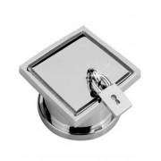 Silverfärgad Piercing Plugg med Hänglås