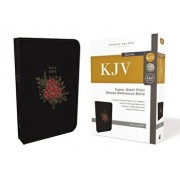 KJV, Deluxe Reference Bible, Super Giant Print, Imitation Leather, Black, Red Letter Edition, Hardcover/Thomas Nelson