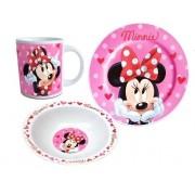 Set mic dejun 3 piese ceramica Minnie Mouse roz