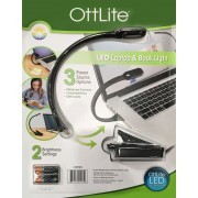 OttLite LED Laptop & Book Reading Light with Smart Connect,Batteries & USB Cable