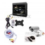 """Kit videosorveglianza completo: monitor LCD 7"""", Telecamera CCD 49, cavo 30mt"""