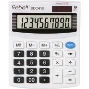 Calculator de birou, 10 digits, 125 x 100 x 27 mm, Rebell SDC 410 - alb