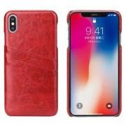 Apple Mode Läder Skal till iPhone XS Max - Röd
