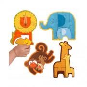 Petit Collage Beginner Puzzle - Safari Babies