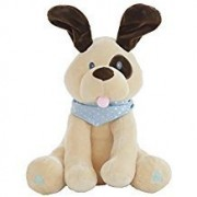 Animated Plush Peek A Boo Puppy Dog Singing Stuffed Animal 12 with Peek A Boo Book by XtraKare