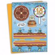 Geen Verjaardag 18 jaar XXL taartkaart