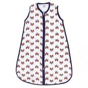 Yoga Sprout Saco de Dormir Unisex de algodón sin Mangas para bebé, Clever Fox Muselina (1 Unidad), 0-6 Meses