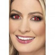 Smiffys Verkleedaccessoires duivel contactlenzen rood