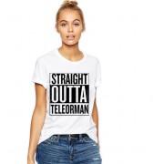 Tricou dama alb - Straight Outta Teleorman
