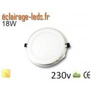 Spot LED Slim 18w blanc chaud perçage 160mm 230v