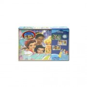 3 Disney Princess Wood Puzzles with storage box 8.5 x 11...each puzzle is 24 pieces
