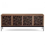 BDI Elements 8779 with Ricochet Doors, Console Base and Natural Walnut Finish