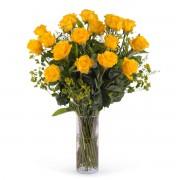 Interflora 18 Rosas Amarelas de Pé Longo Interflora