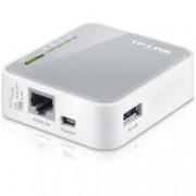 Рутер TP-Link TL-MR3020, мобилен, 150Mbps, 2.4GHz(150Mbps), Wireless N, 1x WAN/LAN 100, 1x USB 2.0, 1x miniUSB, 1x вътрешна антена