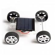 Hecho a mano bricolaje solar accionado coche electrico juguetes educativos