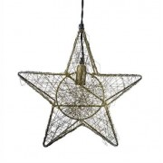 Strömshaga Taklampa Stjärna Tråd Antik Mässing