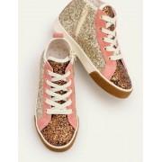 Mini Gold Hochgeschnittene Schuhe Damen Boden, 24, Gold