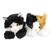 "Aurora 31279, 16625 8"" Domestic Cats Esmerelda and Maynard Bundle of 2 Plush, Multicolor"